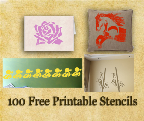 Free printable stencils wall fabric and furniture stencils for Printable stencils for canvas painting