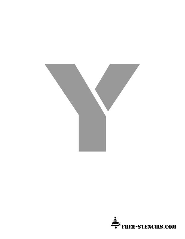 Alphabet Y Stencil ...