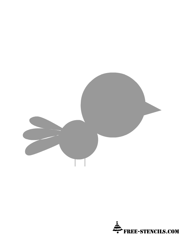 baby bird stencil for kids room wall - Free Kids Stencils
