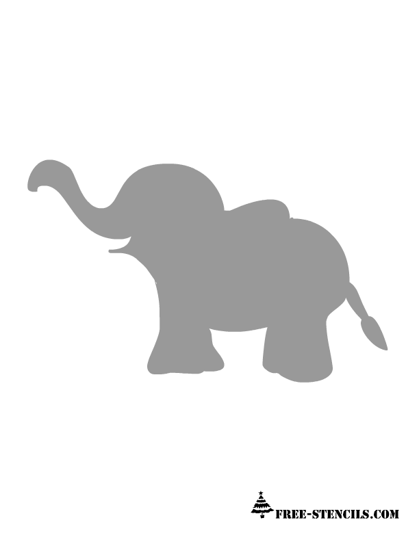 graphic regarding Free Elephant Printable titled Cost-free Printable Little one Space Wall Stencils