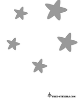 cute stars stencils for baby room wall