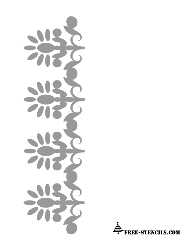 Playful image regarding free printable border stencils