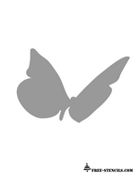 butterfly stencil for wall