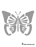 free printable butterfly stencil