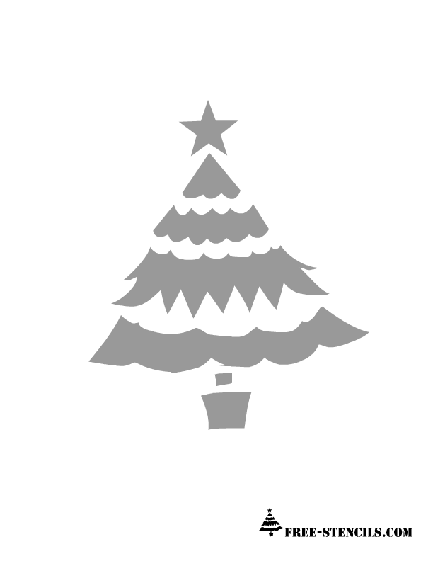free printable christmas tree stencil - Holiday Stencils Free Printables