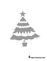 free printable christmas tree stencil