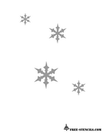 free printable snow flakes stencil