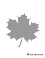 free printable maple leaf stencil
