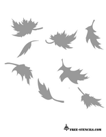 free printable fall leaves stencil