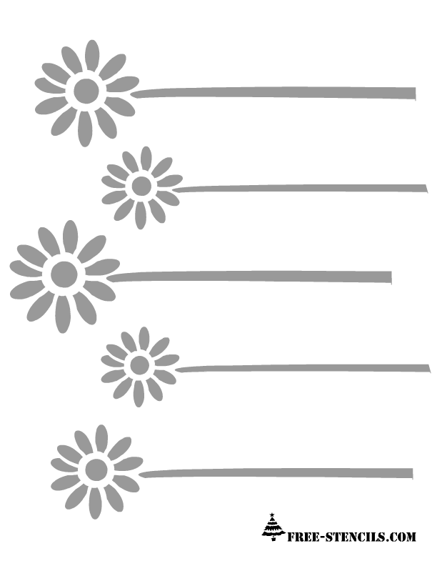 Free printable floral patterns stencils floral border pattern stencil pronofoot35fo Gallery