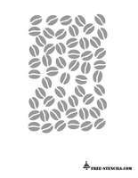 free printable coffee beans stencil