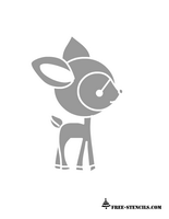 cute deer stencil printable