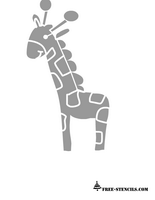 cute printable giraffe stencil