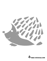 free printable hedgehog stencil