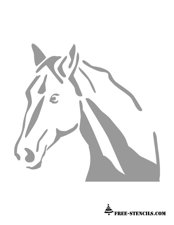 Free Printable Horse Stencil