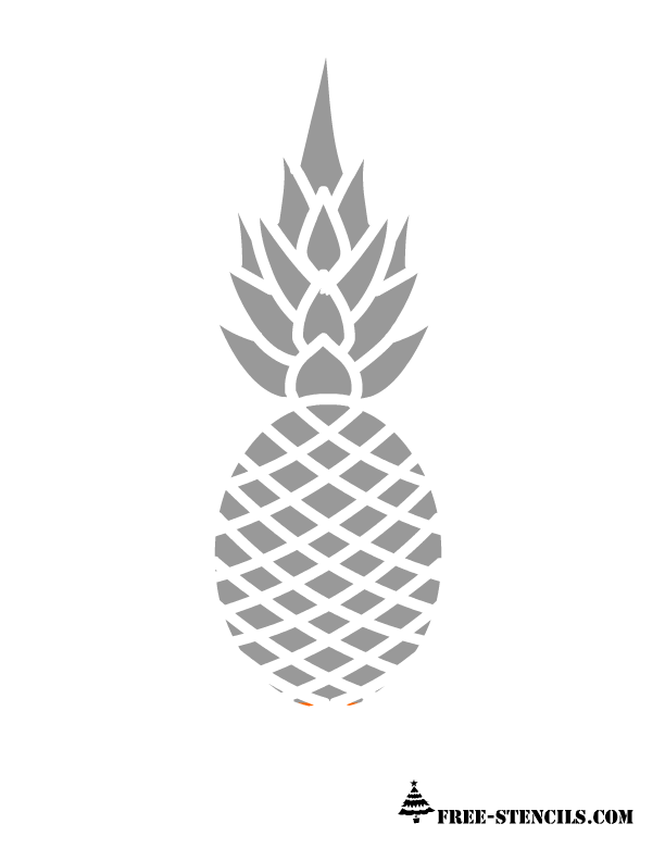 Free Printable Pineapple Stencils Pineapple Stencil