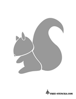 cute squirrel stencil