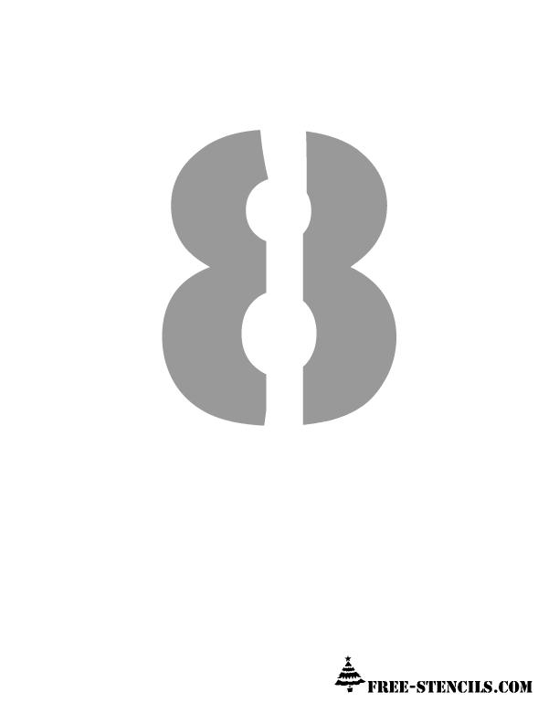 graphic regarding Printable Stencils Numbers identify No cost Printable Quantities Stencils