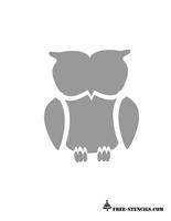 Current image inside printable owl stencil