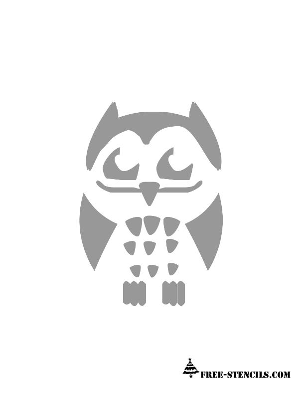 Free printable owl stencils pronofoot35fo Choice Image