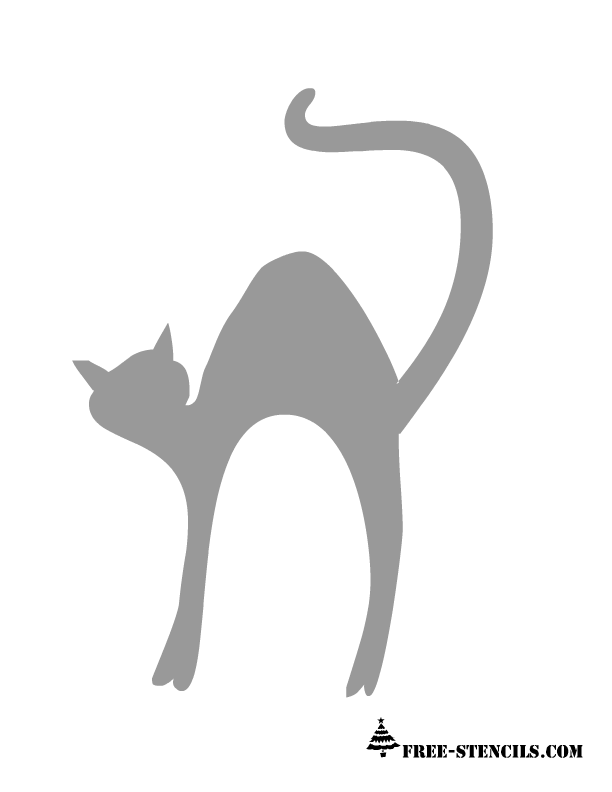 picture relating to Cat Stencil Printable known as Free of charge Printable Pumpkin (Jack-o-Lantern) Stencils