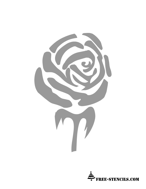 image regarding Rose Stencil Printable identified as Free of charge Printable Rose Stencils
