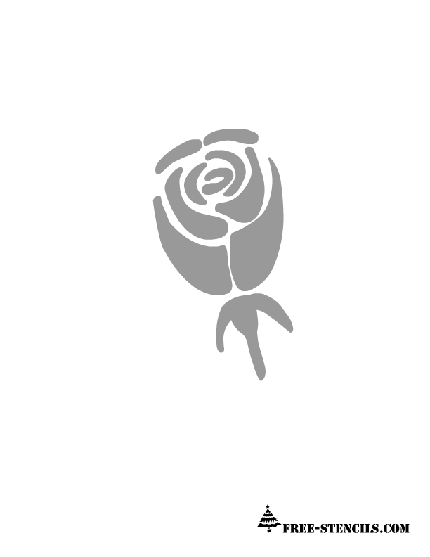 This is stencil of a beautiful rose bud and it can be painted on ...