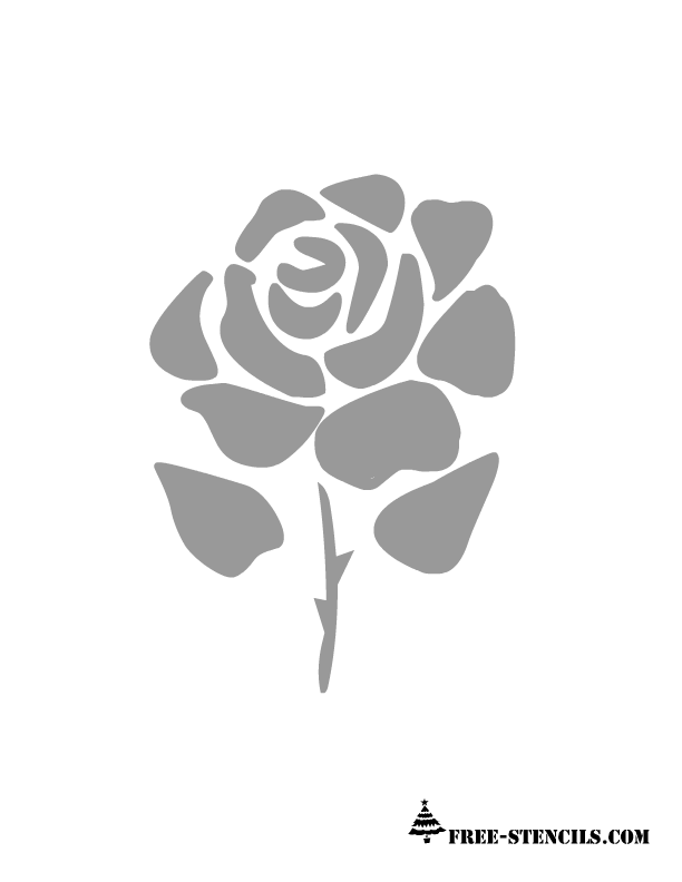 Free printable rose stencils for Printable stencils for canvas painting