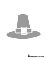 free printable thanksgiving pilgrim hat stencil