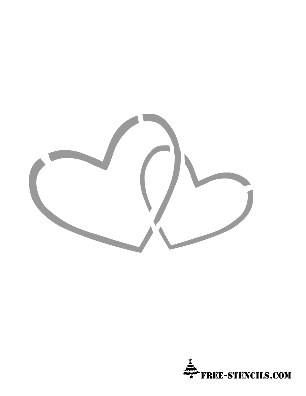It's just a picture of Heart Stencil Printable pertaining to transparent background